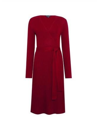 Dorothy Perkins Womens Burgundy Rib Wrap Dress