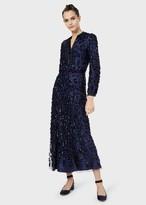 Giorgio Armani Embroidered-Tulle Dress