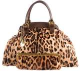 Dolce & Gabbana Printed Ponyhair Tote