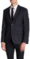 Ike Behar Double Button Notched Lapel Jacket