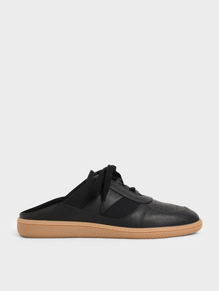 Charles & Keith Lace Up Sneaker Mules