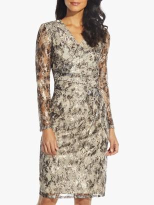 Adrianna Papell Metallic Sheath Dress, Gold