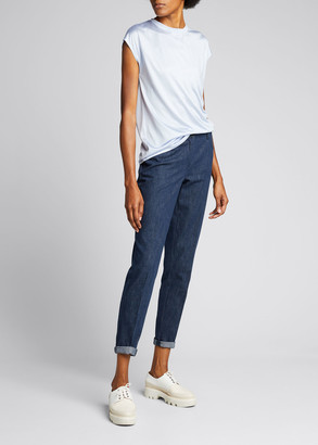 Akris Cap-Sleeve Silk Jersey T-Shirt