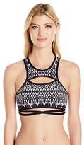 Ella Moss Women's Tribal Dream Soft Cup High Neck Bra Bikini Top