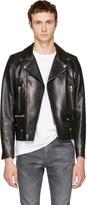 Saint Laurent Black Leather Classic L01 Motorcycle Jacket