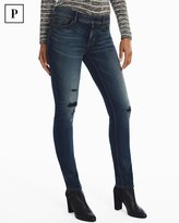 White House Black Market Petite Distressed Slim Jeans
