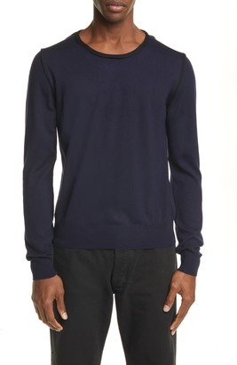 Maison Margiela Crewneck Wool & Cotton Sweater