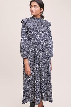 Meadows Jasmine Frilled Printed Midi Dress