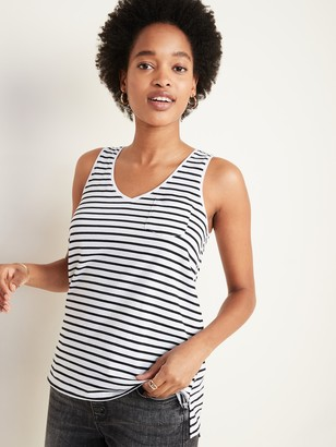 Old Navy EveryWear Striped Chest-Pocket Tank Top for Women