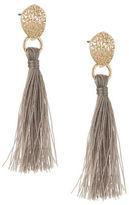 Expression Textured Stud Tassel Drop Earrings