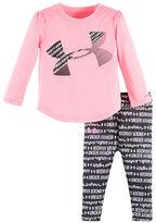Under Armour Baby Girls Girls Two-Piece Wordmark Scripto Tee and Capri Set