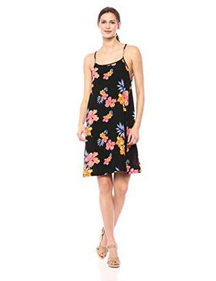 28 Palms Tropical Hawaiian Print Halter Shift Dress Casual,S