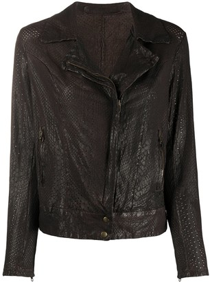 Salvatore Santoro Embossed Style Side Zipped Jacket