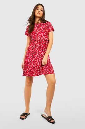 boohoo Ditsy Floral Smock Dress