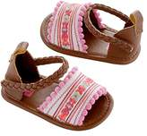 Carter's Baby Girl Crib Shoe Multi-Color/ Embroidered, Newborn Sandal
