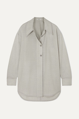 Low Classic Wool Shirt - Light gray