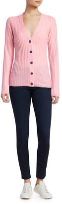 Saks Fifth Avenue Ribbed Wool Cardigan