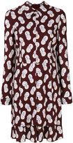 Carven flower & dots shirt dress - women - Silk/Spandex/Elastane/Acetate/Viscose - 34