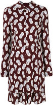 Carven flower & dots shirt dress - women - Silk/Spandex/Elastane/Acetate/Viscose - 36