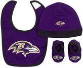 Gerber Baby Baltimore Ravens 3-Piece Cap, Bootie, & Bib Set