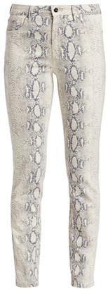Joe's Jeans The High-Rise Python Ankle Cigarette Jeans