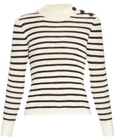 Etoile Isabel Marant Erwan button-shoulder striped sweater