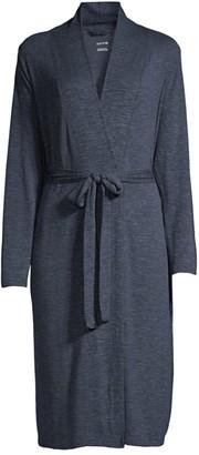 Yummie Stonewash Tie-Waist Midi Robe