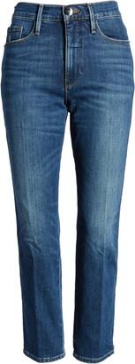 Frame Le Pixie Sylvie High Waist Slender Straight Leg Jeans