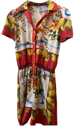 Dolce & Gabbana Red Silk Jumpsuits
