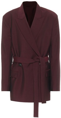 Acne Studios Belted wool and mohair blazer
