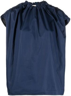 Marni Gathered-Detail Cotton Poplin Blouse