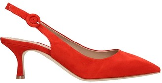 The Seller Pumps In Red Suede
