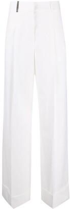 Peserico Mid-Rise Wide-Leg Trousers