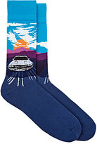 Corgi Men's Classic Car Cotton-Nylon Socks