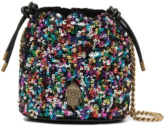 Kurt Geiger Sequin Embellished Bucket Bag