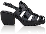Opening Ceremony WOMEN'S CROC-STAMPED LEATHER FISHERMAN SANDALS