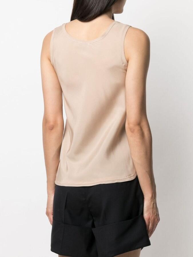 Thumbnail for your product : Blanca Vita Sleeveless Silk Blouse