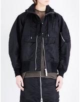 Sacai Hooded shell bomber jacket