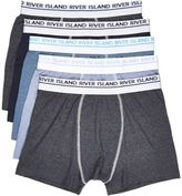 River Island MensBlue trunks multipack
