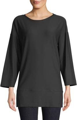 Eileen Fisher Split Hem Pullover Tunic