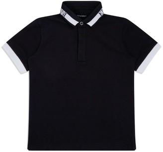 Emporio Armani Kids Logo Collar Polo Shirt