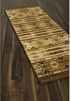 Ecarpetgallery Ikat Tribal Brown Abstract Rug Runner (2'8 x 7'8)
