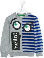 Fendi hello eye print sweatshirt - kids - Cotton/Spandex/Elastane - 3 yrs