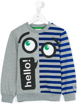 Fendi hello eye print sweatshirt - kids - Cotton/Spandex/Elastane - 8 yrs