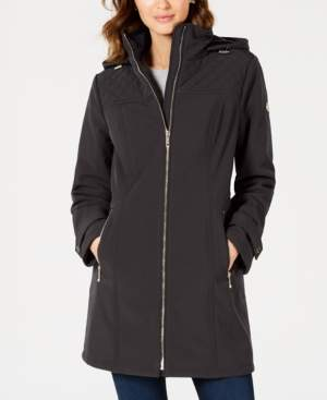 Michael Kors Michael Petite Hooded Raincoat, Created For Macy's