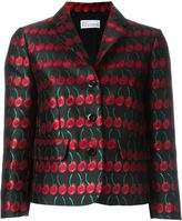 RED Valentino cherry jacquard jacket - women - Cotton/Polyester/Acetate/Metallized Polyester - 46
