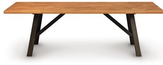 "Copeland Furniture Modern Farmhouse Solid Wood Dining Table Size: 36"" H x 40"" L x 40"" W, Color: Natural Cherry"