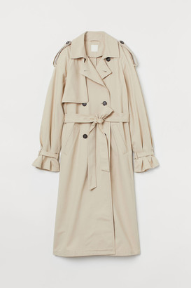 H&M Double-breasted Trenchcoat - Beige