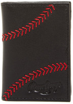 Rawlings Sports Accessories Baseball Stitch Front Pocket Leather Wallet