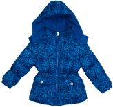 Pink Platinum Royal Blue Floral Puffer Jacket - Infant Toddler & Girls